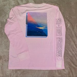 American Eagle Long sleeve shirt graphic size L
